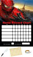spiderman personalised reward behaviour chart Free Pen, Stickers & Sticky tabs!