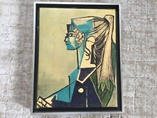Pablo Picasso PORTRAIT OF SYLVETTE DAVID Small Giclee on Canvas