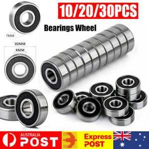 10x 608RS Skateboard Roller Scooter Sealed Ball Longboard Skate Bearings Wheels