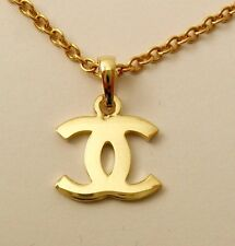 GENUINE SOLID 9ct 9K YELLOW GOLD DOUBLE CC LETTER LOGO PENDANT