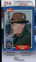 Paul Brown JSA Coa Autograph 1988 Swell Hand Signed