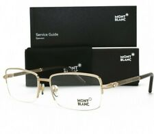 Mont Blanc Eyeglasses MB 493 028 Gold Half Rimless Men Brand New Authentic