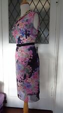 STUNNING ADRIANNA PAPELL DRESS- W VELVET FITTED FLORAL WEDDINGS CHRISTENINGS 12