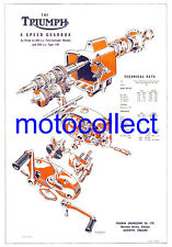 TRIUMPH Slickshift Gearbox - Exploded View Drawing..A3 size..FREE POSTAGE