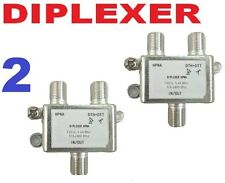 2 X DIPLEXER SWITCH SATELLITE+ CABLE ANTENNA HD DTV DIGITAL COMBINER HPNA FTA