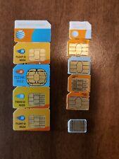At&T Sim Cards Standard (3G), Nano and Mini (4G)