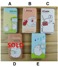 Molang Leather Wallet Flip Case Cover for iPhone 5,5s