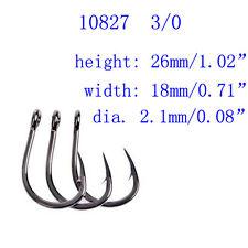 50pcs 10827 3/0 Stainless Steel SS Coated Ocean Livebait Fishing Hooks