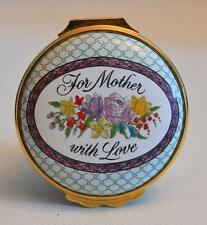 Halcyon Days Enamels Mother's Day 1986 For Mother With Love Trinket Box