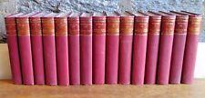 Works of Nathaniel Hawthorne 15 Red Cloth-Bound Volumes Vintage Book Decor Lot