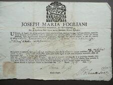 Autentica Reliquia G. M. Fogliani San Gaetano Sant'Andrea Avellino Modena 1774