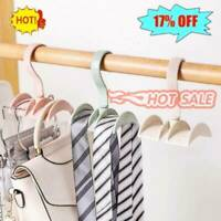 Closet Organizer Rod Hanger Handbag Storage Purse Hang Rack Holder Hook Bag Blue