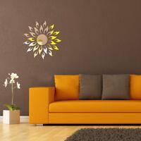 3D Mirror Sun Art Removable Wall Sticker Acrylic Mural Decal Home Room Decor New