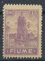Rijeka 1919 Sass. 36 Postfrisch 100% 15 Cent