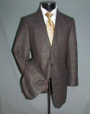 $1495 Ermenegildo Zegna Z Brown/Gray Plaid Men Two Buttons Jacket 42 L