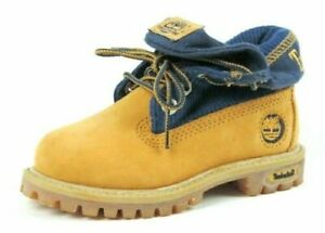 Timberland Roll Top Toddler Boots SZ 7.5 Thermal Winter Wheat Leather 29856 New