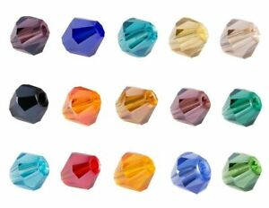 ❤ ELECTROPLATE/AB Faceted Bicone Glass Beads CHOOSE COLOUR 4mm/6mm Jewellery ❤