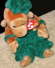 "Ty Beanie Baby 95 BONGO W/Tags Un-Numberedl/PVC Sz:8"" w/added handmade clothes"