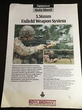 Royal Ordinance Equipment Data Sheet 556 mm Enfield Weapon System Pamphlet