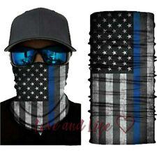 American Flag, Blue Lives Matter, Bandana, Neck Gaiter, Headband, Mask