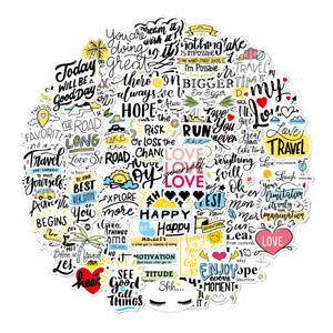 Mental Health Awareness Motivational Positive Sayings PVC Stickers 50pcs MIND