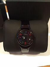 NEW Womens Marc By Marc Jacobs Black Patent Leather Wrist Watch