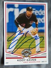 Detroit Tigers Kody Eaves Signed 2017 Erie Seawolves Auto Card