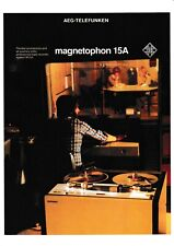 Prospekt Telefunken Magnetophon M 15 A in English