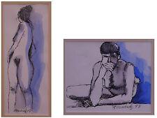 Fernandez, Emilia (geb. 1940) - Pendant Zeichnungen Männer- und Frauenakt 1998