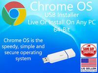 Chrome OS 64 Bit Live USB Installer NOT FOR ANY CHROMEBOOKS