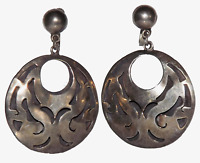 Vintage Signed TAXCO Mexico Sigi Pineda Sterling Silver 925 Screw Back Earrings