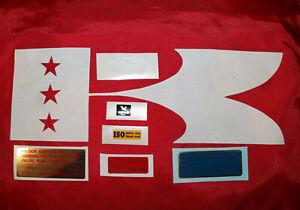 Kawasaki H1 H1a H1b H1c 1970 - 72 6 Piece Frame Warning and Service Label Set