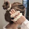 Women Girls Elegant Pearl Hair Band Ties Rope Crystal Hairband Ponytail Holder