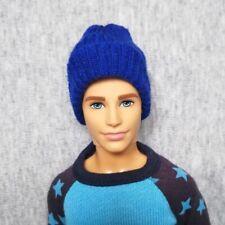"Handmade doll royal blue beanie for 1/6 dolls 12"" ken dolls"