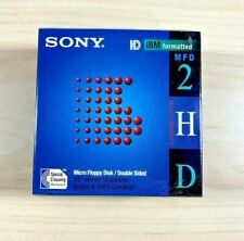 "Sony Micro Floppy Disk 10MFD-2HD 3.5"" Double Sided Formatted 10 Pack New Sealed"