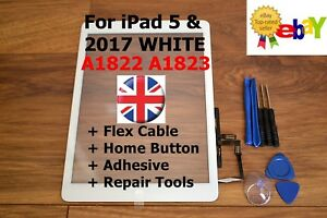 For iPad 2017 5 AIR A1822 A1823 WHITE Touch Screen Digitizer Glass Replacement
