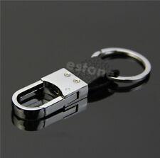 New Fashion Black Leather Strap Keyring Key Chain Ring Key Fob#27