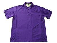 Tiger Woods Platinum Nike Dri Fit Polo Golf Shirt Men's Size Extra Large Purple
