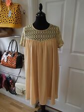 Nude Babydoll Dress by Danity with Lace Upper & Floaty Tunic Body Size Medium