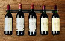 Moderno soporte botellas vino galvanizado für 5 altura 24,3cm Ancho 50,6