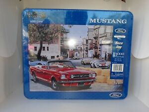 Brand New Ford Mustang Race Day 1000 Piece Jigsaw Puzzle Tin No. 78148 100 Years