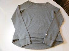 Hollister California Women's Junior's L/S shirt top M medium grey shimmer EUC--