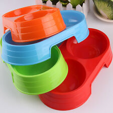 4 colors Pet Dog Puppy Cat Food Water Dish Feeder Bowl Plastic Dishes Hot Sale