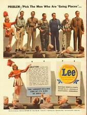 1942 WW2 era Ad, LEE Work Clothes for Men, Overall, Union All, Majorette  070314