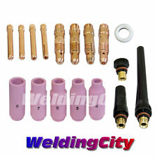 """TIG Welding Torch 17/18/26 Kit Collet-Cup-Cap .040""""-1/8"""" T5 
