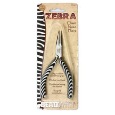 Beadsmith Zebra Line Chain Nose Pliers with Double Spring * Jewelry Tools