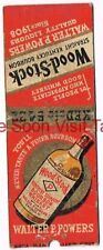 1930s Walter P Powers Wood-Stock Kentucky Straight Bourbon Whiskey Matchcover