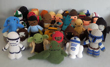 Amigurumi Hand Crocheted Star Wars Complete Set of 34 Dolls NEW yoda r2d2 BB-8