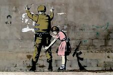 Banksy 'Stop and Search' Girl Searching Soldier Poster  A2 SIZE