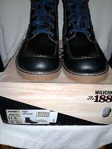 Wolverine Leather Forest/Dark Grey Men's Snow/Winter Boots US Sze 11.5 Euro 44.5